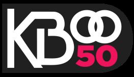 KBOO logo w pink